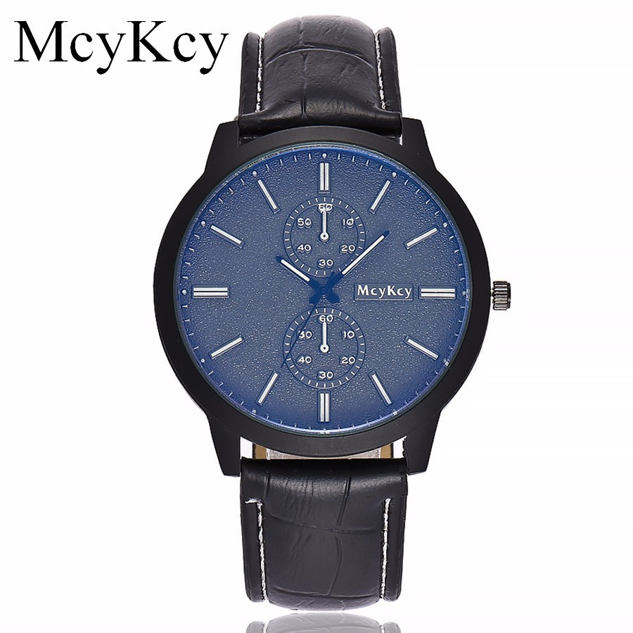 Fashion Casual Mens Blue Ray Glass Watches Luxury Leather Business Quartz Watch Men Military Sport Wristwatch Relogio Masculino fashion o t sea brand faux leather blue ray glass watch men military quartz wrist watches relogio masculino w042