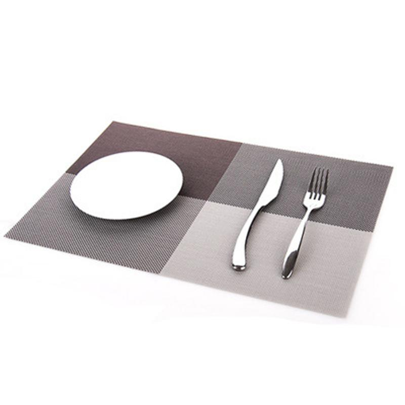 Dinner Placemat PVC Dining Table Mat Disc Pads Bowl Pad Coasters Waterproof Table Decor Cloth Pad Slip-Resistant Pad