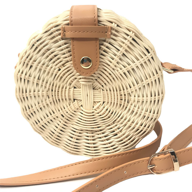 Square Round Mulit Style Straw Bag Handbags Women Summer Rattan Bag Handmade Woven Beach Circle Bohemia Handbag New Fashion 4