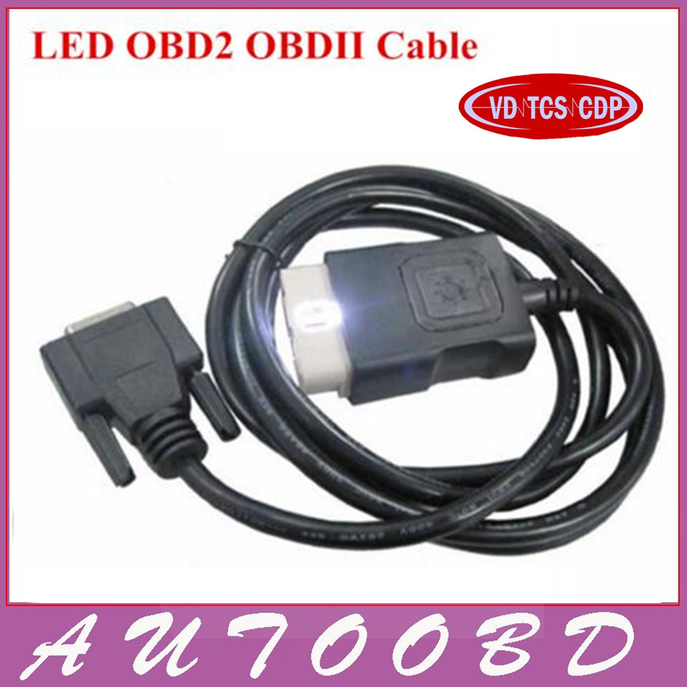 Best Quality CDP LED OBD2 Cable for VD TCS CDP PRO PLUS / New vci CDP OBD 2 OBDII SCANNER CABLE CDP Accessories new arrival new vci cdp with best chip pcb board 3 0 version vd tcs cdp pro plus bluetooth for obd2 obdii cars and trucks