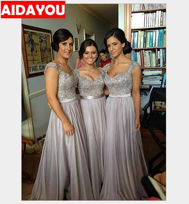 Mulheres Vestido formal 2019 Rendas Maternidade Maxi Manga Longa Elegante Banquete Prom Vestidos mãe Vestido de Noite Quinceanera wed010