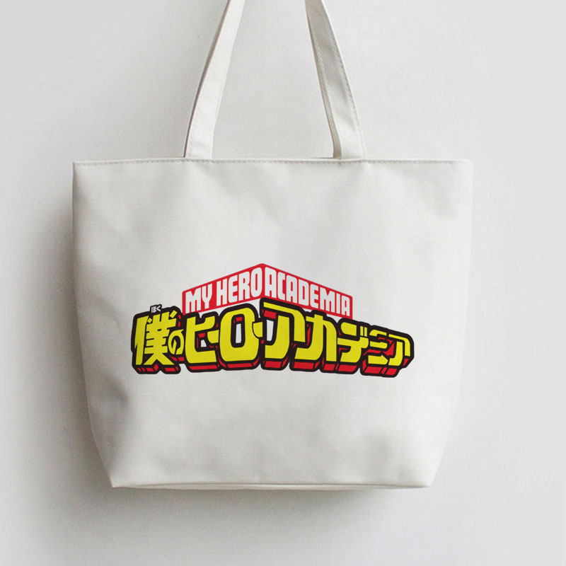 Boku no Hero Academia Logo My Hero Academia Anime bag Handbag Canvas bag Cartoon Cute Gift school bag Shopping Tote bags AN057