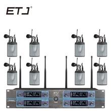 ETJ Marca 8 Changable U-801 Transmissor Bodypack Microfone Headset Microfone De Lapela Sem Fio
