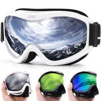 Lunettes de ski professionnelles de marque MAXJULI double couche lentille anti-buée UV400 lunettes de ski ski snowboard hommes femmes lunettes de neige