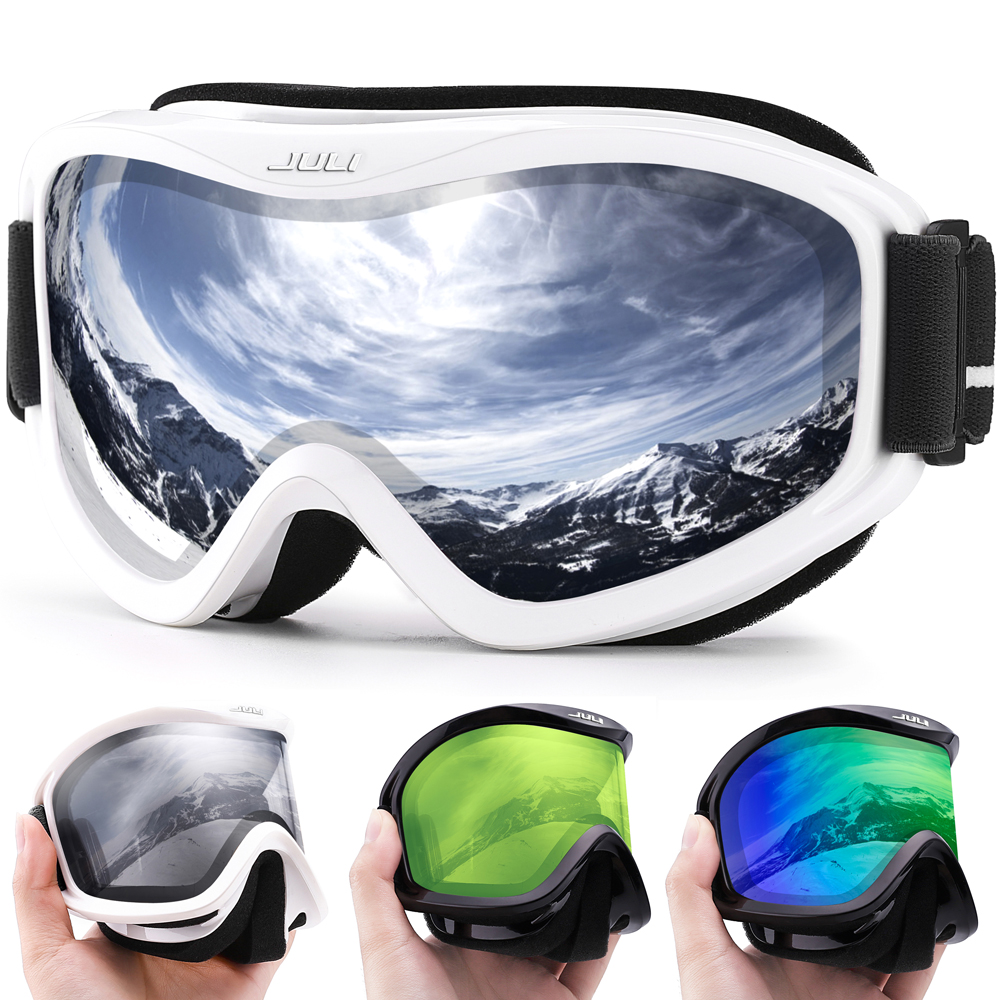 MAXJULI Brand Professional Ski Goggles Double Layers Lens Anti-fog UV400 Ski Glasses Skiing Men Women Snow Goggles