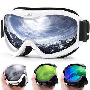 Lens Ski-Goggles Skiing Double-Layers Women Anti-Fog UV400 Brand MAXJULI Professional