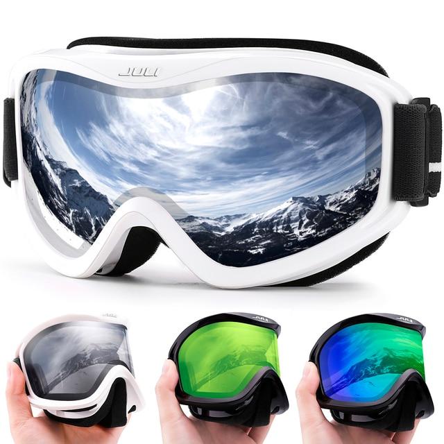 MAXJULI ماركة المهنية تزلج نظارات مزدوجة الطبقات عدسة مكافحة الضباب UV400 نظارات التزلج التزلج الرجال النساء نظارات واقية من الثلج