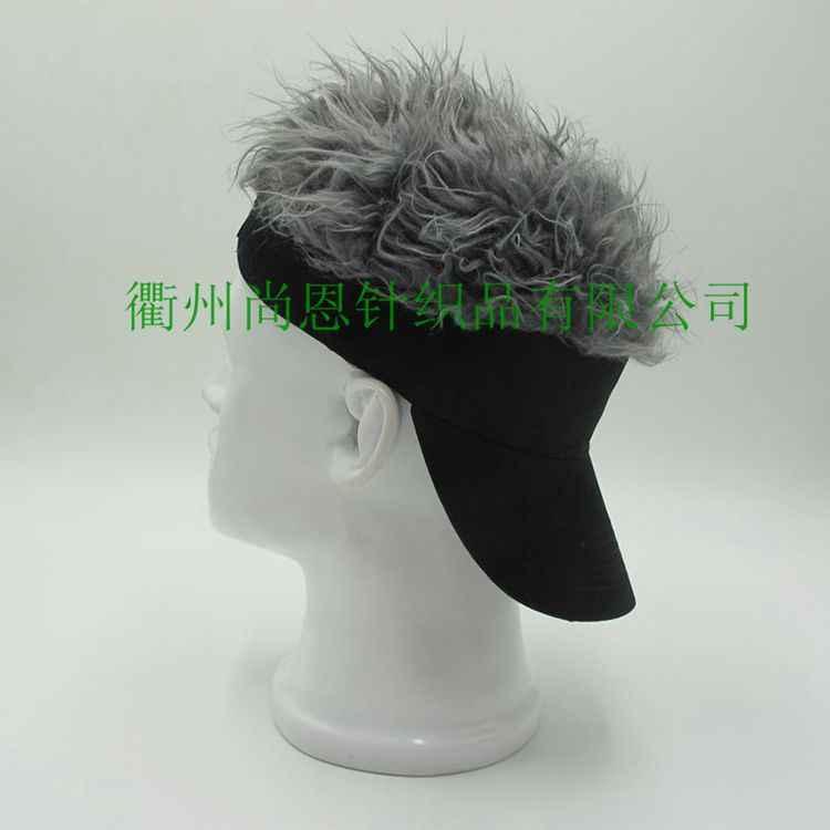 5096c4015b2 Hot Sale Novelty Baseball Cap Fake Flair Hair Sun Visor Hats Man's Women's  Toupee Wig Outdoor Funny Hair Loss Cool Golf Caps