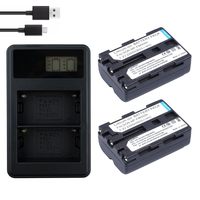 2*2200mAh NP FM500h Battery Camera Batteries NP FM500h bateria+LCD Dual USB Charger For Sony A57 A58 A65 A77 A99 A550 A560 A580