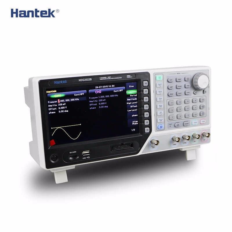 DDS Signal Generator Hantek HDG2022B 2Channels 20MHz 250MSa/s DMM function Arbitrary Waveform Signal Generators 64M Memory Depth осциллограф hantek 6022be usb storag 2channels 20 48msa s