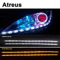 Atreus Car LED Crystal water lamp DRL Daytime running lights For Mitsubishi ASX Lancer 10 9 Pajero I200 Nissan Chevrolet cruze