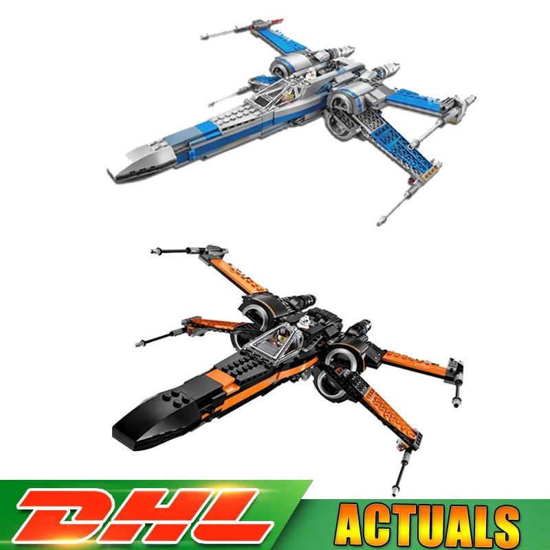 LEPIN 05004 1381Pcs Star First Wars Order Poe's X Toys Wing Fighter 05029 740Pcs Block Bricks Toys Clone LegoINGlys 75102 75149 lepin 05004 05029 05145 05148 poe s x star wing fighter 75102 75149 75218 75216 wars model building blocks bricks diy kid s toys