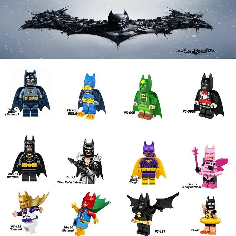 เดี่ยว DC Super Heroes Batman Legoings Batgirl Batman Fairy Bathrope Joker Rainbow minifigs บล็อกอาคารของเล่นเด็ก
