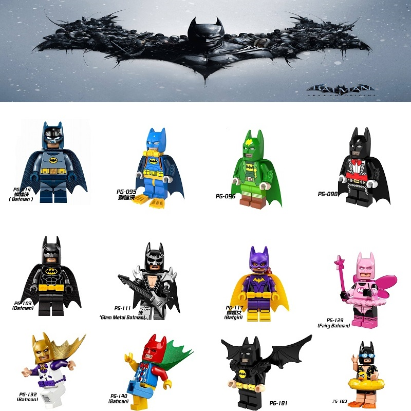 Single DC Super Heroes Batman Legoings Batgirl Fairy Batman Bathrope Joker Rainbow Building Block Minifigs Toys For Children