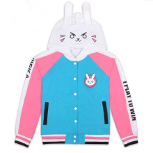 Cosplay Costumes D.va OW Hoodies Cosplay DVA costume Jacket Sweatshirts Impression   Anime Sweater Hooded Zipper Men and Women