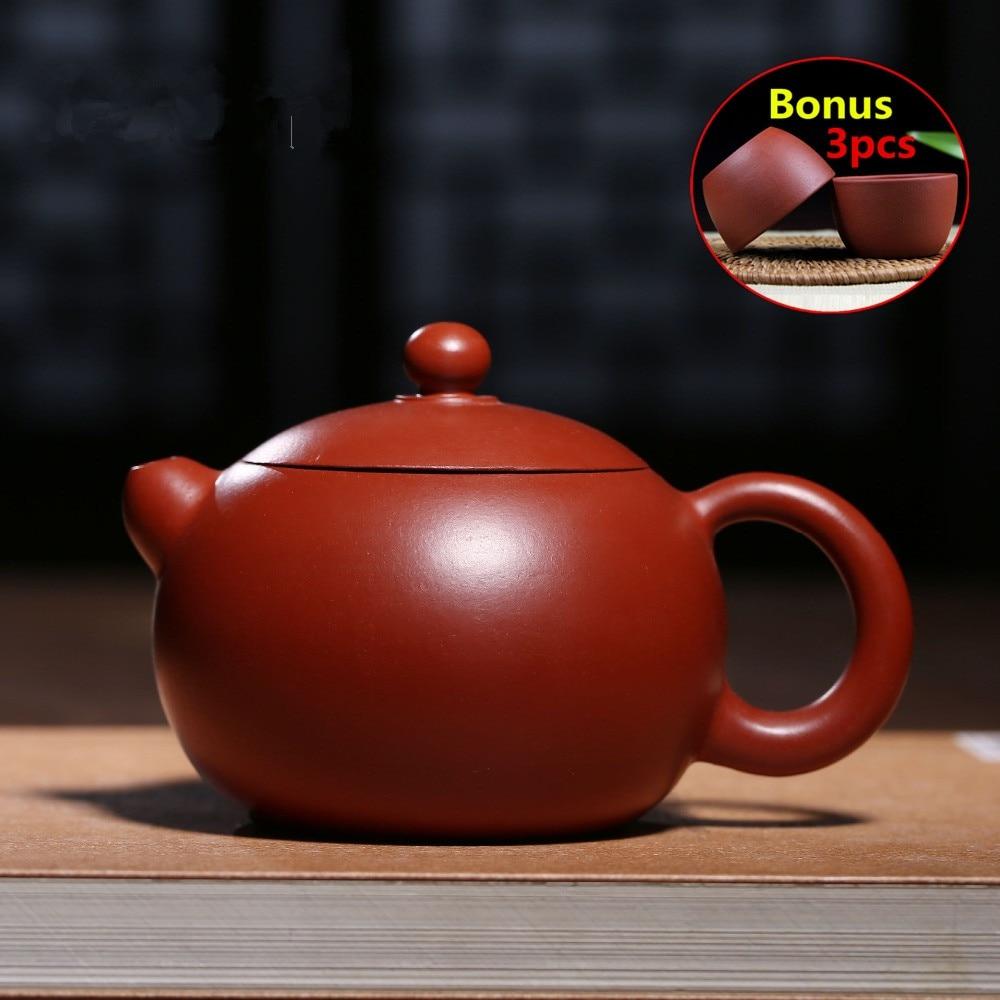 180ml Handmade Teapots Ceramic Yixing Clay Kung Fu Teapot Tea Pot High-grade Chinese Zisha Sets Porcelain Kettle Bonus 3 Cups