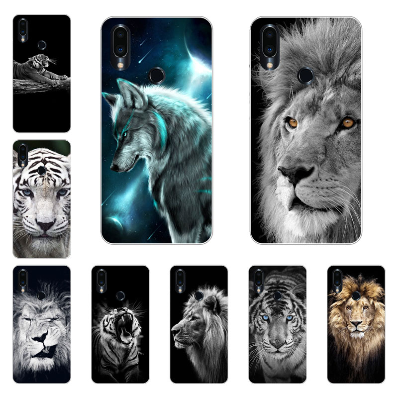 Meizu note 9 Case,Silicon Tiger lion Painting Soft TPU Back Cover for Meizu note9 Phone protect Bags shell