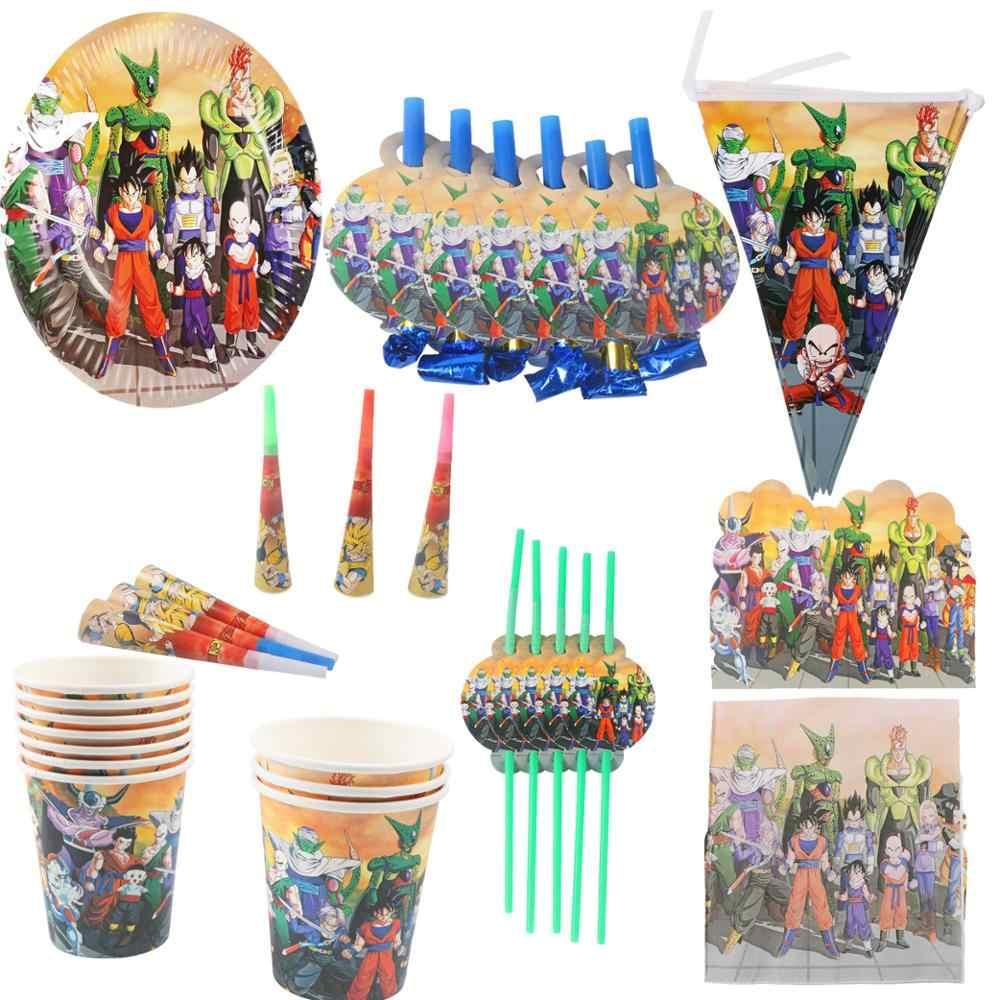 Dragon Balls einweg geschirr Dragon Balls thema servietten teller tassen Comic party banner baby dusche dekorationen Luftballons