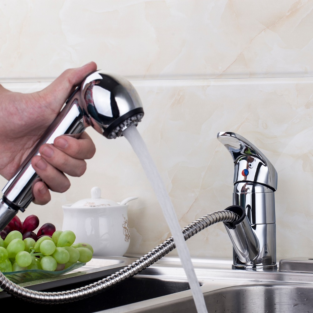 DE New bland Spray Pulll Out Nickel Brushed Basin Kitchen Sink Mixer Tap Faucet Convience Mixer