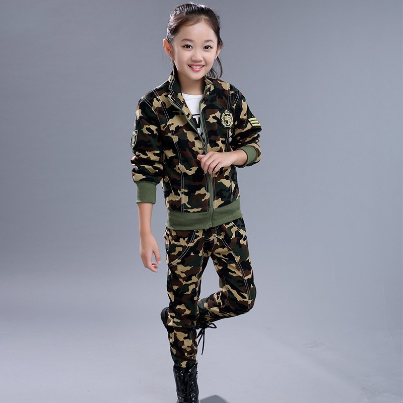 2PCS Kids Boys Camouflage Outfits Coat+Pants Casual Spring Fall Cotton Clothing