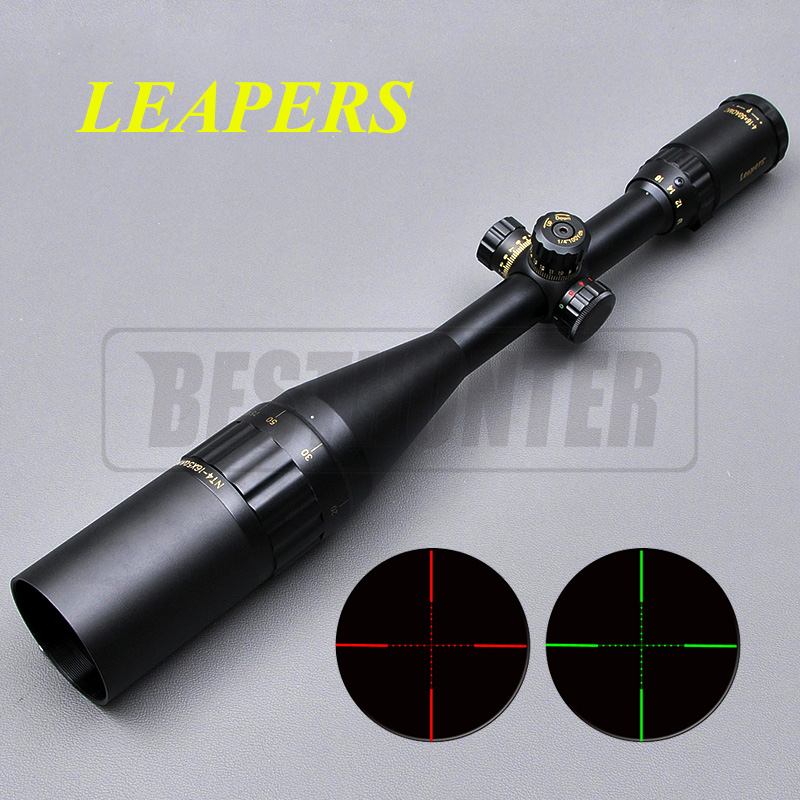 LEAPERS 4-16X50 Golden Marking Long Eye Relief Rifle Scope Reticle Fiber Optic Sight Mil-dot Locking Hunting Equipment