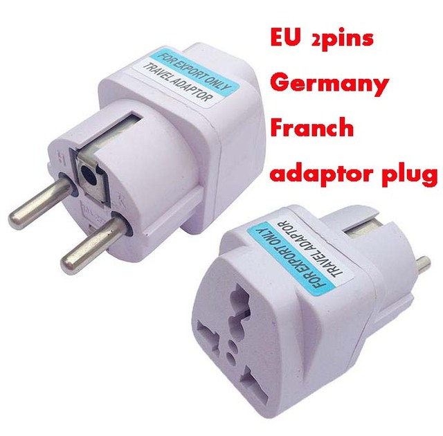 10pcs White Universal Eu Us Au Uk Germany Franch South Africa India Russia Brazil Travel Adaptor Plug 3p Socket Converter