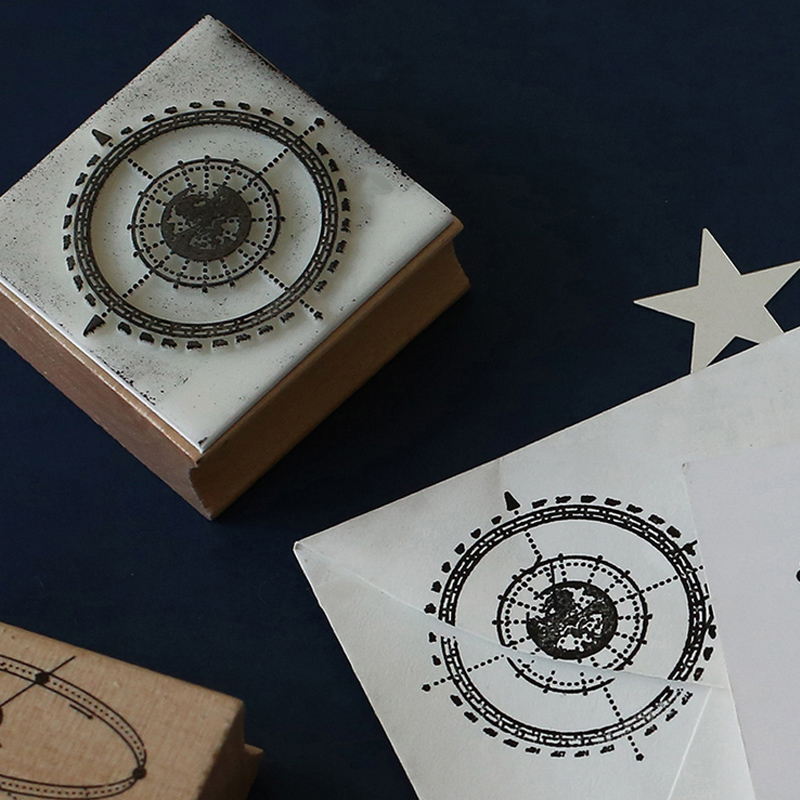 Vintage universe Planet creative stamp DIY wooden rubber stamps for scrapbooking stationery scrapbooking standard stamp
