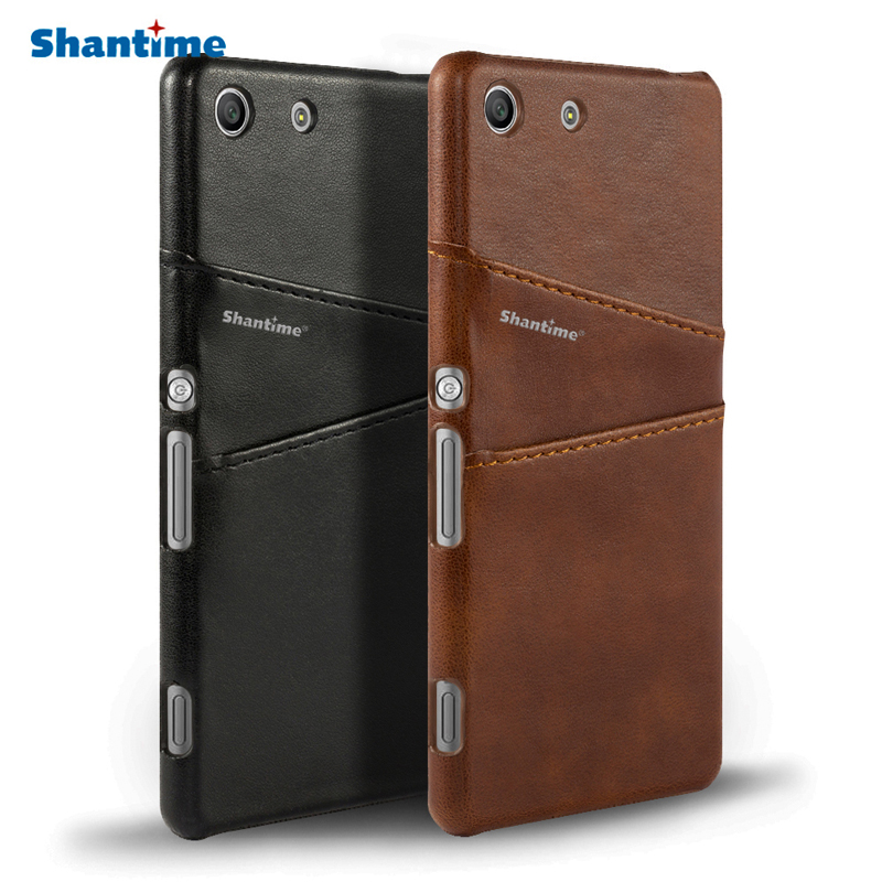 Vintage Pu Leather Wallet Case For Sony Xperia M5 Phone Bag Case For Sony Xperia M5 Business Card Slots Case