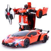 1:22 Бесплатная доставка роскошный спортивный автомобиль модели деформации робот преобразования Дистанционное управление RC автомобиль Игр