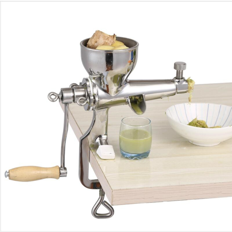 Stainless steel hand wheatgrass juicer manual auger slow squeezer fruit wheat grass vegetable orange juice extractor machine home use hand wheat grass juicer extractor cucumber tomato potato juice squeezer