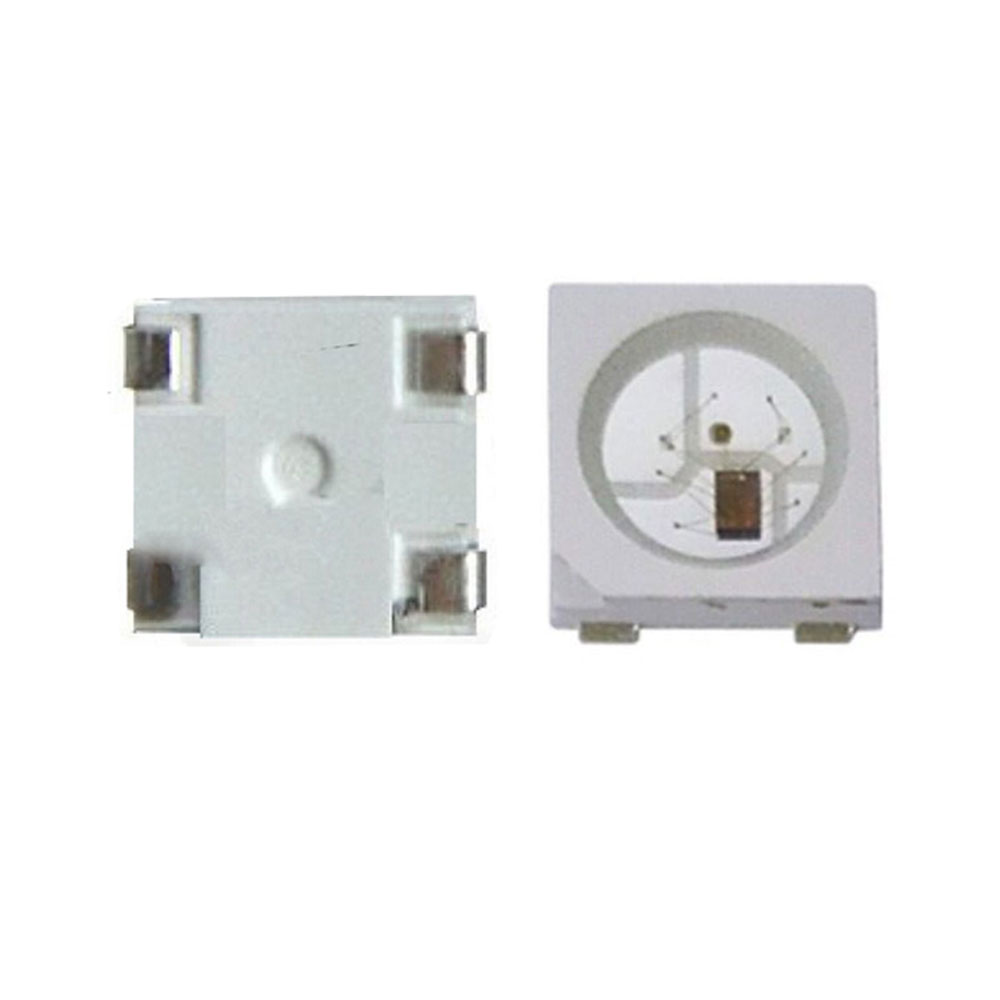 Nouveau 5 V puce LED 200 pièces WS2812B (4 broches) WS2811 IC SMD 5050 RGB version noir/blanc adressable individuellement puce WS2812 numérique