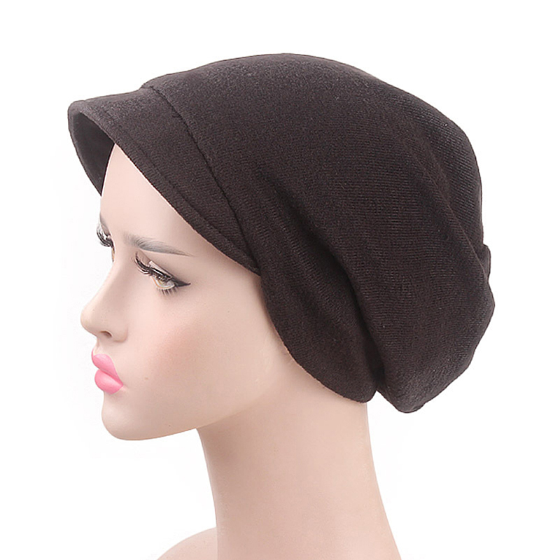 Casual Warm Multi-color Hat Solid Pile Hat New Creative Explosion Fashion Female Indian Muslim Stretch Headscarf Bigsweety