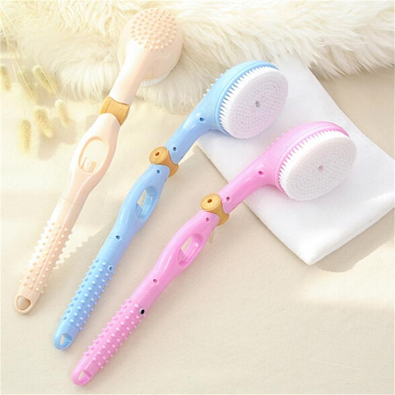 1Pcs Long Handle Shower Bath Brush Boar Bristles Exfoliating for Back Body Hanging Body Massager Scrubber Brush AP28