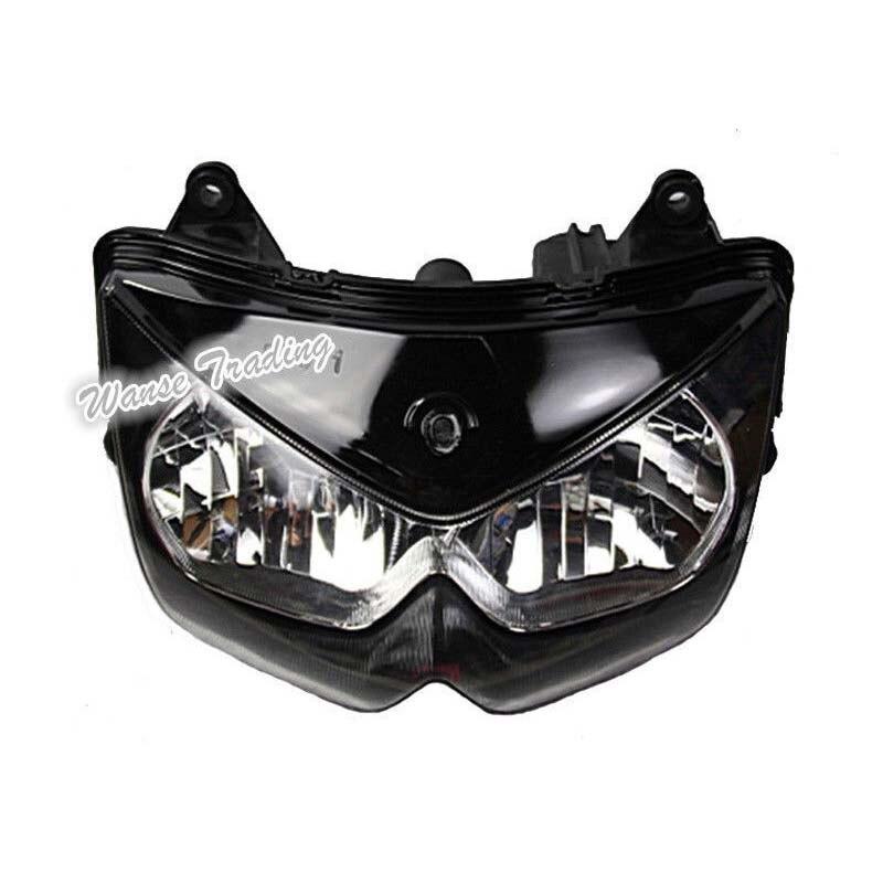 waase For Kawasaki Ninja 250R 2008 2009 2010 2011 2012 Front Headlight Headlamp Head Light Lamp Assembly Housing Case