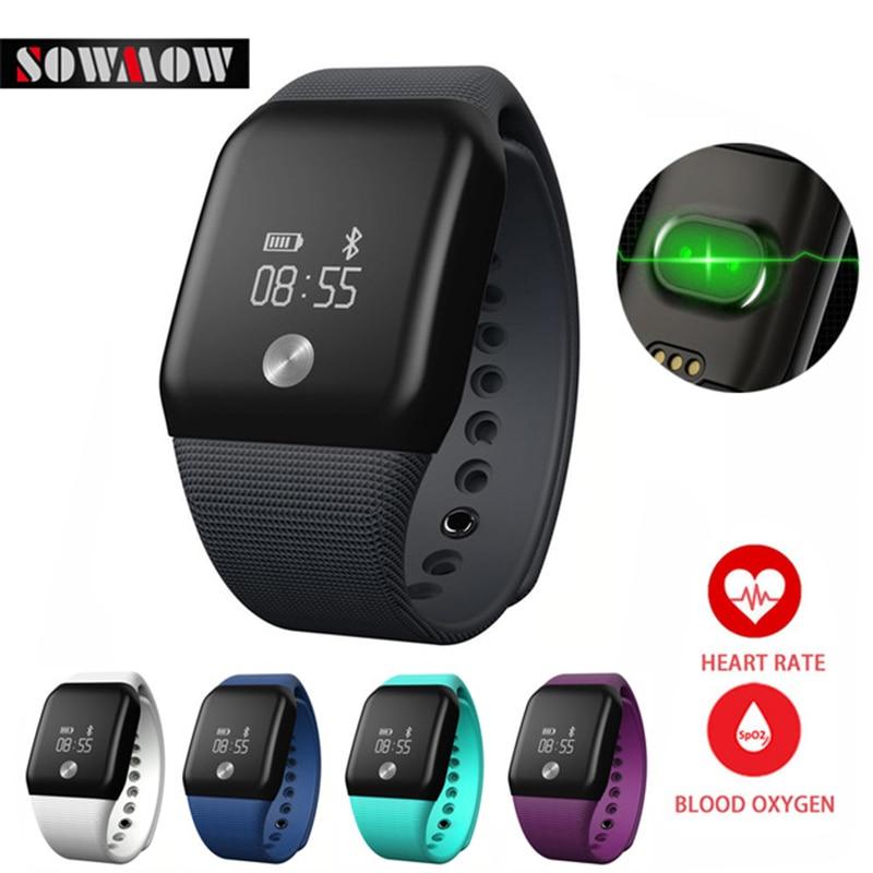 imágenes para SOWMOW A88 + Pulsera Inteligente Podómetro Deporte Banda de Oxígeno Arterial Monitor de Ritmo Cardíaco Reloj de la Aptitud SPO2H Pulsera Para iOS Android