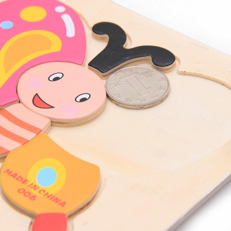 Mainan Bayi Kanak-kanak Pendidikan Haiwan / Buah-buahan / Kenderaan - Teka-teki - Foto 4