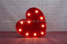 13″ Hot Pink Heart LED Plastic Marquee Sign LIGHT UP neon light valentine's gift Indoor Dorm