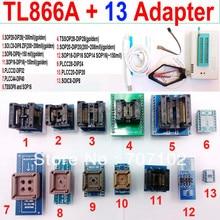 Tl866a programmeur + 13 adaptateurs universels haut débit TL866 PLCC AVR PIC Bios 51 MCU EPROM Flash programmeur russe anglais manuel