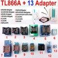 Tl866a programador 13 adaptadores de alta velocidade TL866 PLCC AVR PIC Bios 51 MCU EPROM programador manual russo inglês
