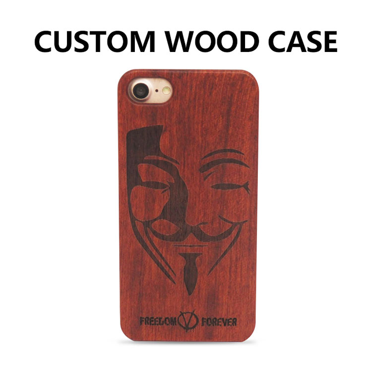 ad56ed86be 60 pcs DIY Luxury Novelty Retro Bamboo Wood Skull Carving Case for iPhone 8 Wooden  Case Cover for iPhone 7 Customized Phone Case
