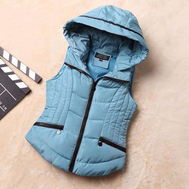 Хлопок жилет женщин зимнее пальто новый стиль дамы хлопок жилет дикий платья жилет