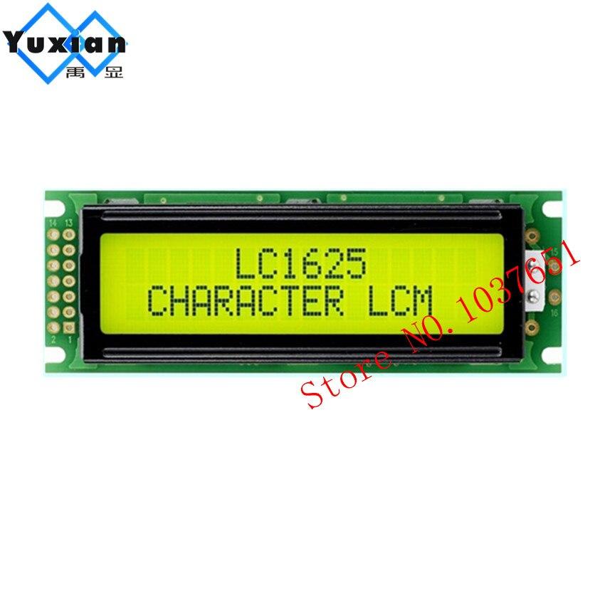 1 Stücke 14pin Header 162 16x2 1602 Lcd Display Modul Hd44780 Wh1602-d Lmb162nby Lc1625-ly Hohe Qualität Led Grün Hintergrundbeleuchtung