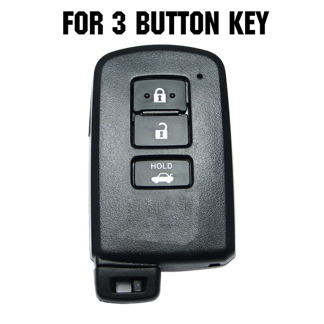 AX For Toyota Camry Corolla Avalon Rav4 Land Cruiser Car Remote Key Holder Protector 3 Button Silicone Key Fob Shell Cover Case