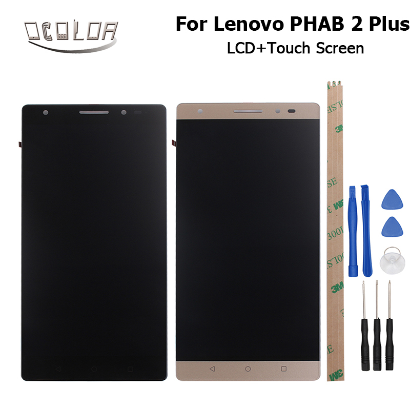 Ocolor For Lenovo PHAB 2 Plus LCD Display and Touch Screen 6 4 Inch Screen Digitizer