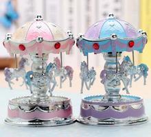 Carousel Music Box Creative birthday gifts for girls Christmas New Year 's Day Yoga Slim Luminous Music Box Wedding decor