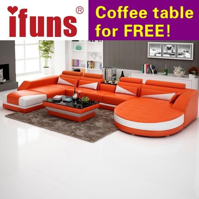 Ifuns Moderne Luxus U Förmigen Design Sitzgruppe, Echtes Leder Sofa  Sectiona, Ecke Sessel Sitzgruppe