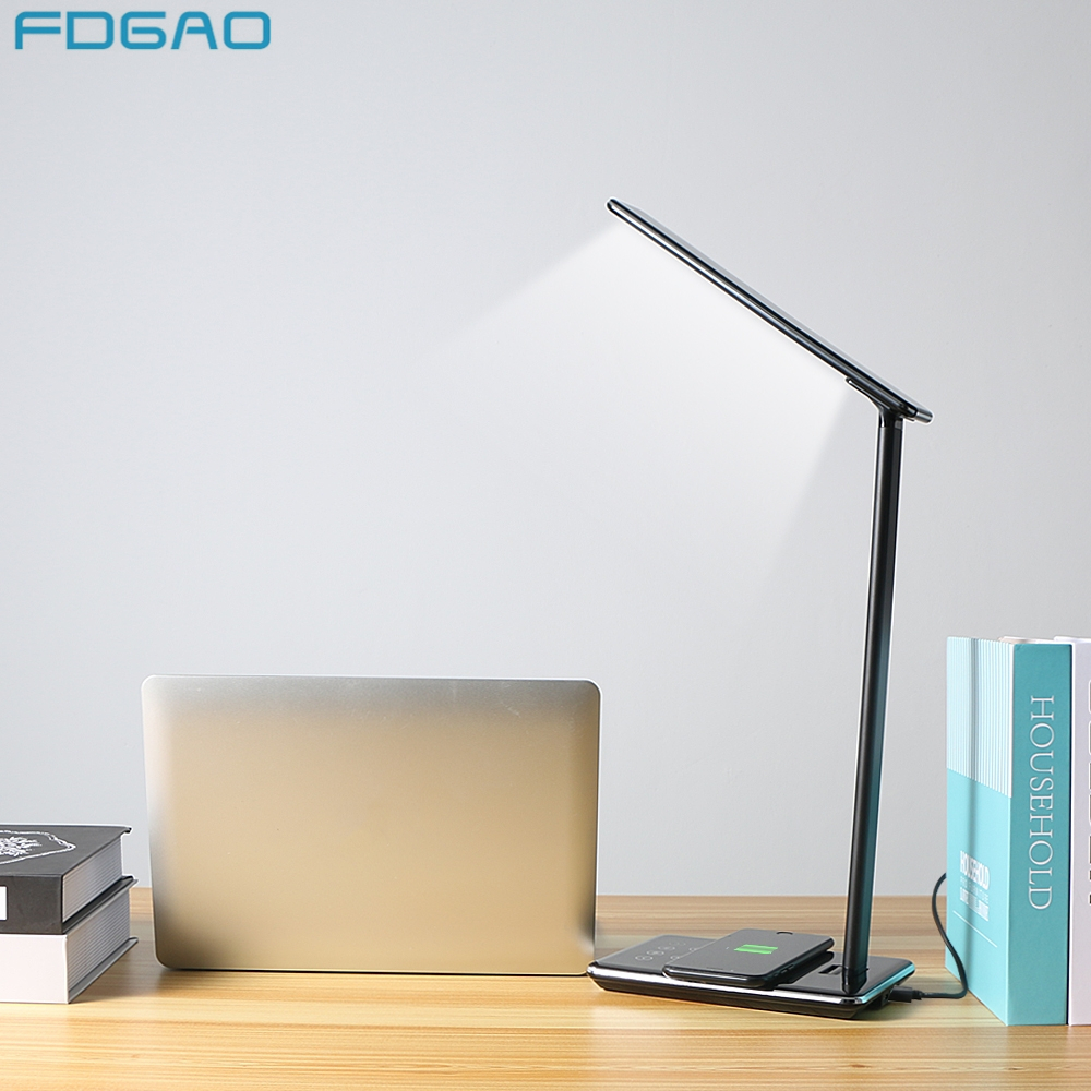 FDGAO LED Table Night Lamp Light Mobile Phone Qi Wireless Ch