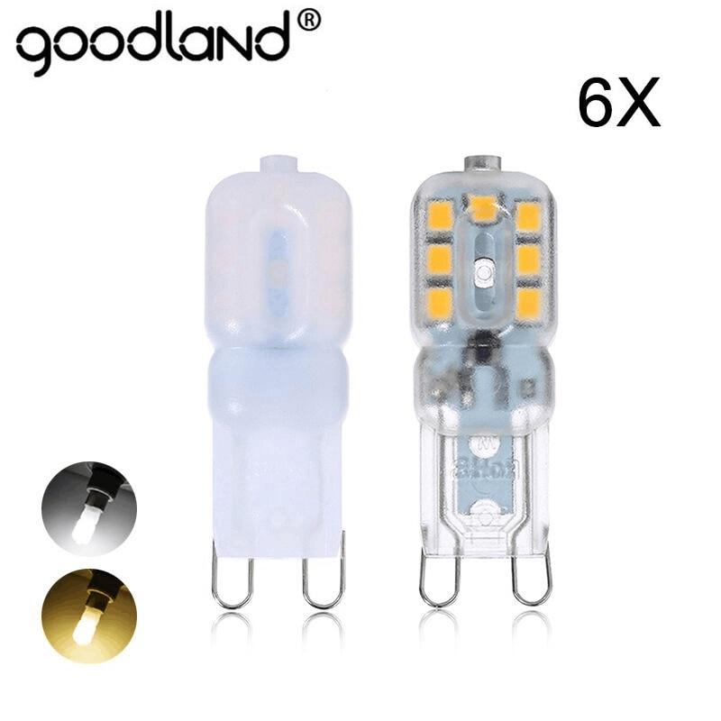 Mini LED G9 Lamp 5W SMD2835 G9 LED Bulb Chandelier LED Light 220V 240V High Quality Lighting Replace Halogen Lamps 6pcs/lot 6pcs 5w ac85 265v 2835smd led candle bulb e12 e14 e27 base led light led lamps light chandelier bulbs light oval tail 6pcs lot