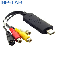 4 Channel USB 2 0 Audio Video CAP TV DVD VHS S Video Capture Adapter DVR