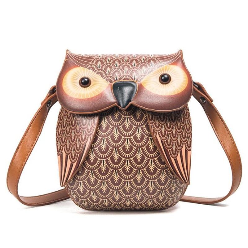 2018 New Ideas Cartoon Mini Women Bag Cute Owl Crossbody Bags LadyS Purse Tote Bag Shoulder bolsa feminina Evening Party